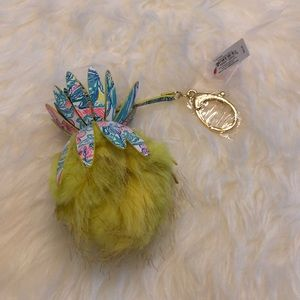 Lilly Pulitzer Accessories - Lilly Pulitzer Faux Fur Pineapple Pom Pom Charm